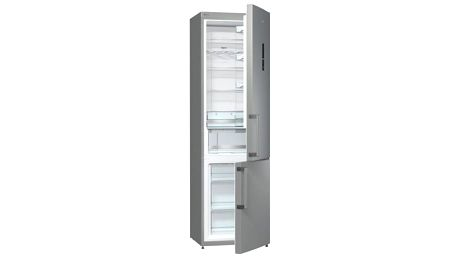 Kombinace chladničky s mrazničkou Gorenje NRK6202MX šedá/nerez
