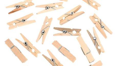 100 ks roztomilých dřevěných kolíčků na fotografie
