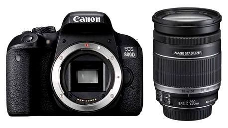 Digitální fotoaparát Canon EOS 800D + 18-200 IS (1895C031AA) černý + Doprava zdarma