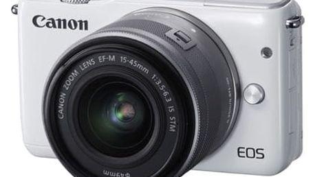 Digitální fotoaparát Canon EOS M10 + 15-45mm STM White 0922C012