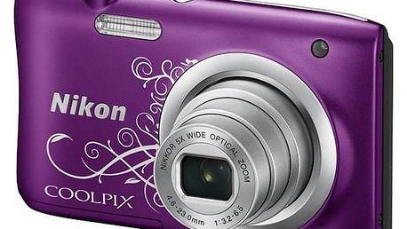 Digitální fotoaparát Nikon Coolpix A100 fialový + Doprava zdarma