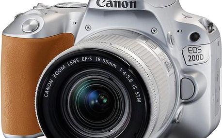 Canon EOS 200D + 18-55mm IS STM, stříbrná - 2256C001