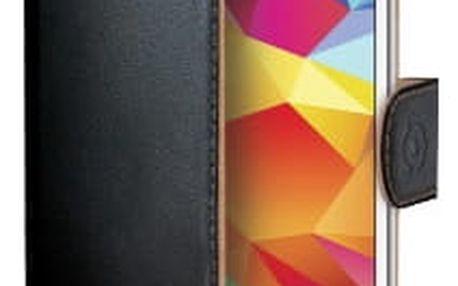 CELLY Wally pouzdro pro Samsung Galaxy Core Prime, PU kůže, černá - WALLY473