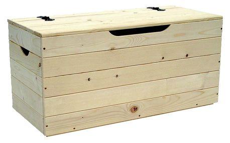 Dřevěná truhla Valdomo Settle, 73 cm - doprava zdarma!