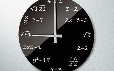 """Nástěnné hodiny """"algebra"""", rádiem řízené"""