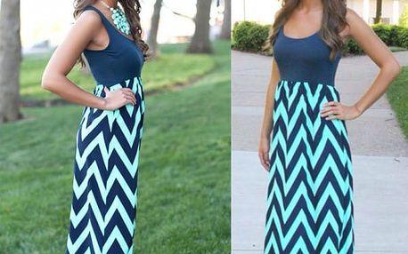 Dlouhé letní šaty s přiléhavým topem - C - velikost č. 6 - dodání do 2 dnů