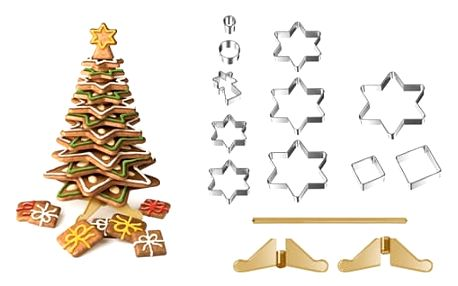 Tescoma Vánoční stromeček DELÍCIA, souprava vykrajovátek