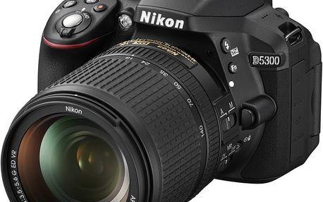 Nikon D5300 + 18-140 VR AF-S DX - VBA370K002 + Spací pytel Alpine Pro Saltan v ceně 999 Kč
