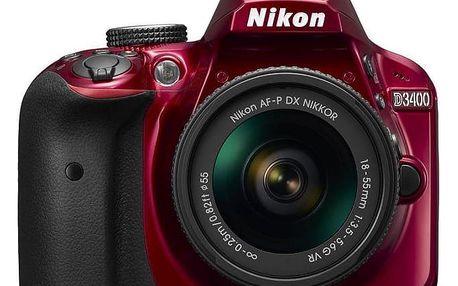 Digitální fotoaparát Nikon D3400 + AF-P 18–55VR Red KIT