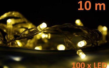 Vánoční LED osvětlení 10 m - teplá bílá, 100 diod