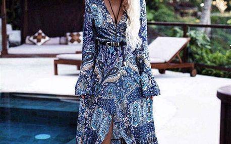 Dlouhé letní šaty ve vintage stylu - Styl 4 - vel.č. 1