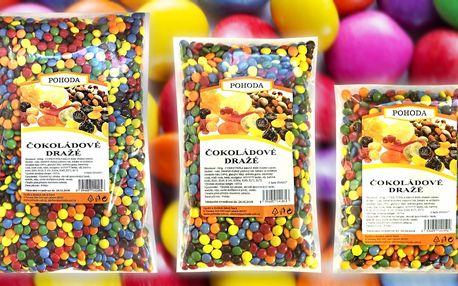 Čokoládové dražé: barevné bonbonky pro děti i dospělé