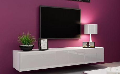 Vigo - TV komoda 180 (bílá mat/bílá VL)