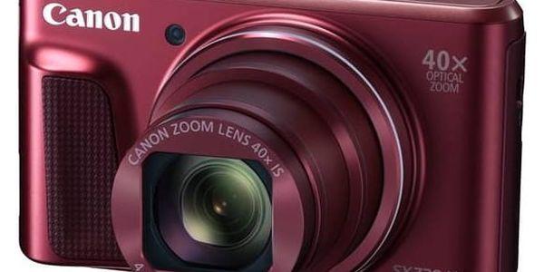 Digitální fotoaparát Canon PowerShot SX720HS (1071C002) červený + Doprava zdarma