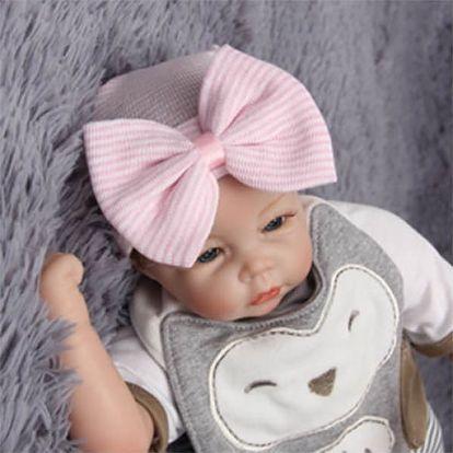 Dětská roztomilá čepička s mašlí