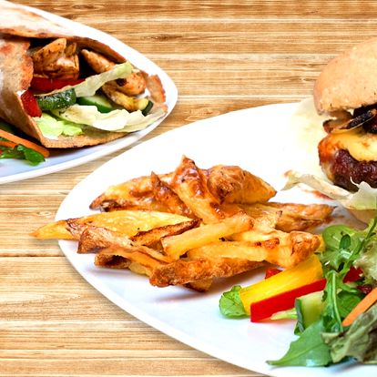 Bezlepkový burger nebo tortilla i pro vegany
