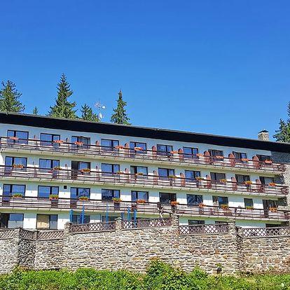 Pohoda na Šumavě s polopenzí, saunou nebo vířivkou a půjčením kol a Nordic walking holí
