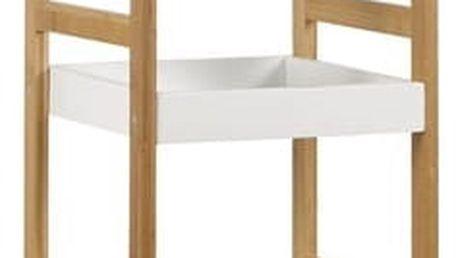 Regál DR-013-3 (bambus lakovaný / police bílá)