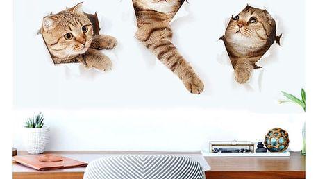 Samolepka na zeď - kočičky - dodání do 2 dnů