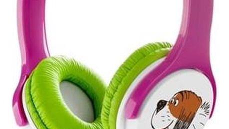 Sluchátka GoGEN Maxipes Fík MAXISLECHY (MAXISLECHY G) zelená/růžová + Doprava zdarma