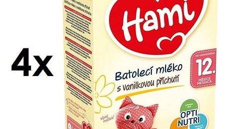 Kojenecké mléko Hami 3 Vanilka od ukočeného 12. měsíce, 600g x 4ks + Doprava zdarma