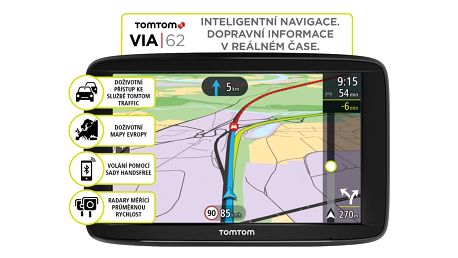 TOMTOM VIA 62 Europe (45 zemí) LIFETIME mapy - 1AP6.002.00