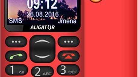 Aligator A880, červená + nabíjecí stojánek - A880RD