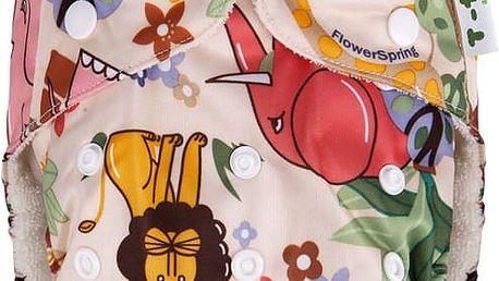 T-TOMI Bambusová kalhotková plena AlO + 2 bambusové vkládací plenky, hnědá afrika