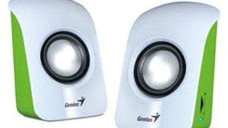 Genius SP-U115, přenosné repro, USB napájení, bílé - 31731006103