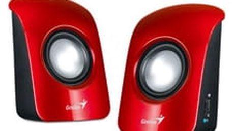 Genius SP-U115, přenosné repro, USB napájení, červené - 31731006101