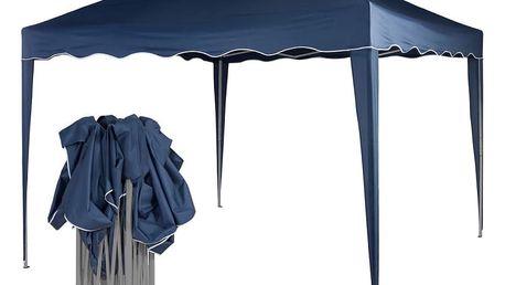Zahradní párty stan nůžkový 3x3 m - modrý
