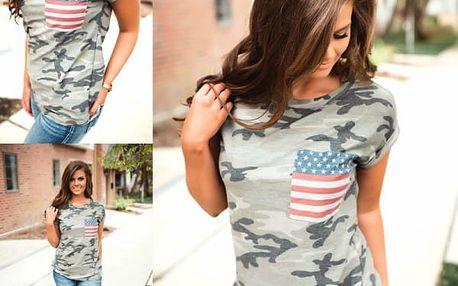 Dámské vojenské tričko America