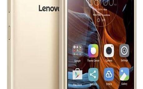 Mobilní telefon Lenovo K5 Plus Dual SIM (PA2R0036CZ) zlatý Software F-Secure SAFE 6 měsíců pro 3 zařízení (zdarma)SIM s kreditem T-Mobile 200Kč Twist Online Internet (zdarma) + Doprava zdarma