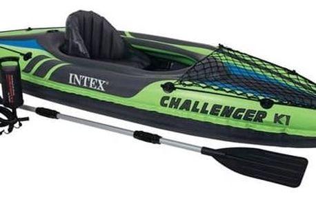 Kajak Intex Challenger K1, 1 místný černý/zelený