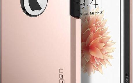 Spigen Tough Armor kryt pro iPhone SE/5s/5, růžová/zlatá - 041CS20190