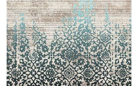 Modrobéžový koberec Kate Louise Print, 80x150cm