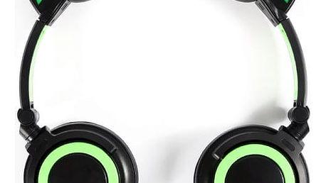 Sluchátka na hlavu s kočičími oušky - svíticí