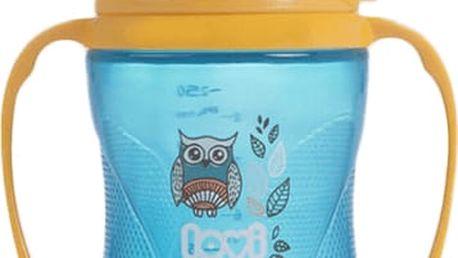 LOVI Hrníček nevylévací Folky 250 ml (12m+) - modrý