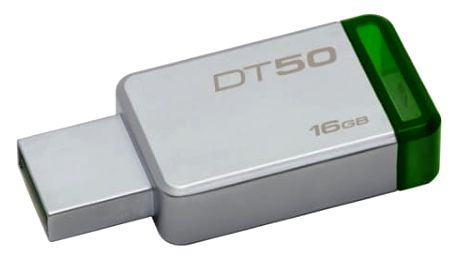 USB Flash Kingston 16GB (DT50/16GB) zelený/kovový