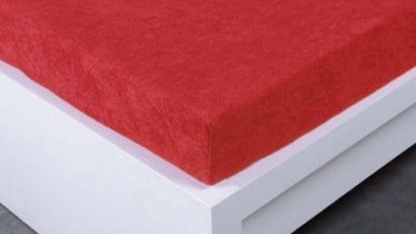 XPOSE ® Froté prostěradlo jednolůžko - červená 90x200 cm