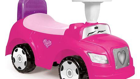 DOLU Odrážedlo auto 2 v 1, růžové