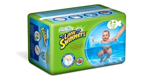 Plenky Huggies Little Swimmers vel. 3-4/7-15 kg 12 ks