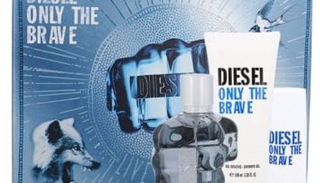 Diesel Only The Brave dárková kazeta pro muže toaletní voda 75 ml + sprchový gel 100 ml + sprchový gel 50 ml