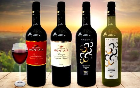 Sety italských vín z oblasti Casea a Romagna