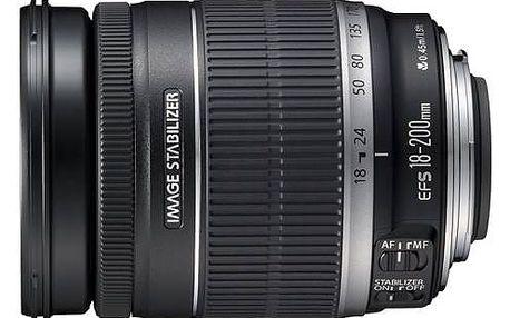 Objektiv Canon EF-S 18-200mm f/3.5-5.6 IS (2752B005CA) černý + cashback + Doprava zdarma