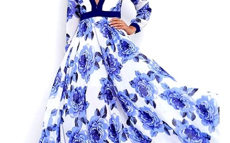 Okouzlující šaty s květinami na letní večery - více velikostí