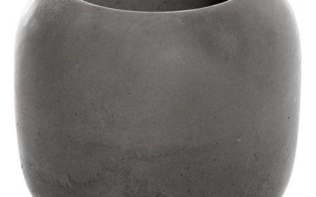 Tmavě šedý betonový kelímek na kartáčky Iris Hantverk