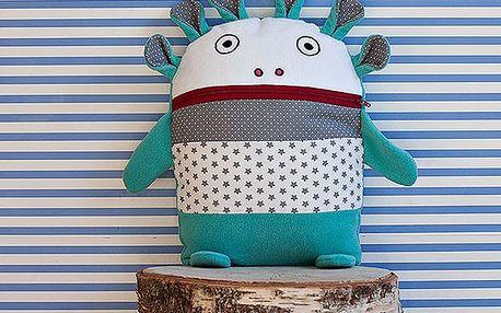 Tyrkysovo-šedý pyžamožrout Bartex, 35x30cm