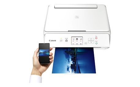 Tiskárna multifunkční Canon TS5051 (1367C026AA) bílá A4, 12str./min, 9str./min, 4800 x 1200, duplex, WF, USB