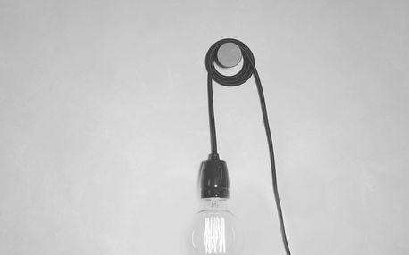 Černý textilní kabel s objímkou Filament Style Cable